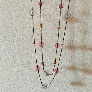Forever 21 Jewelry - Long Layered Pastel Beaded Necklace